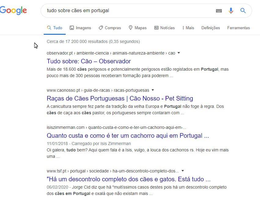 pesquisar palavra chave no google