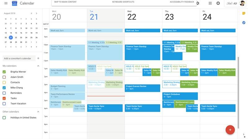organizar as tarefas com o Google Calendar